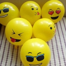 Yellow balloons 30pcs/lot 12inch thick round latex expression balloon baby 1 year happy birthday wedding decoration