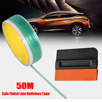 50M Safe Finish Car Line Tape Vinyl Film Auto Accessories+ Squeegee for Vinyl Wrapping Cutting Trim