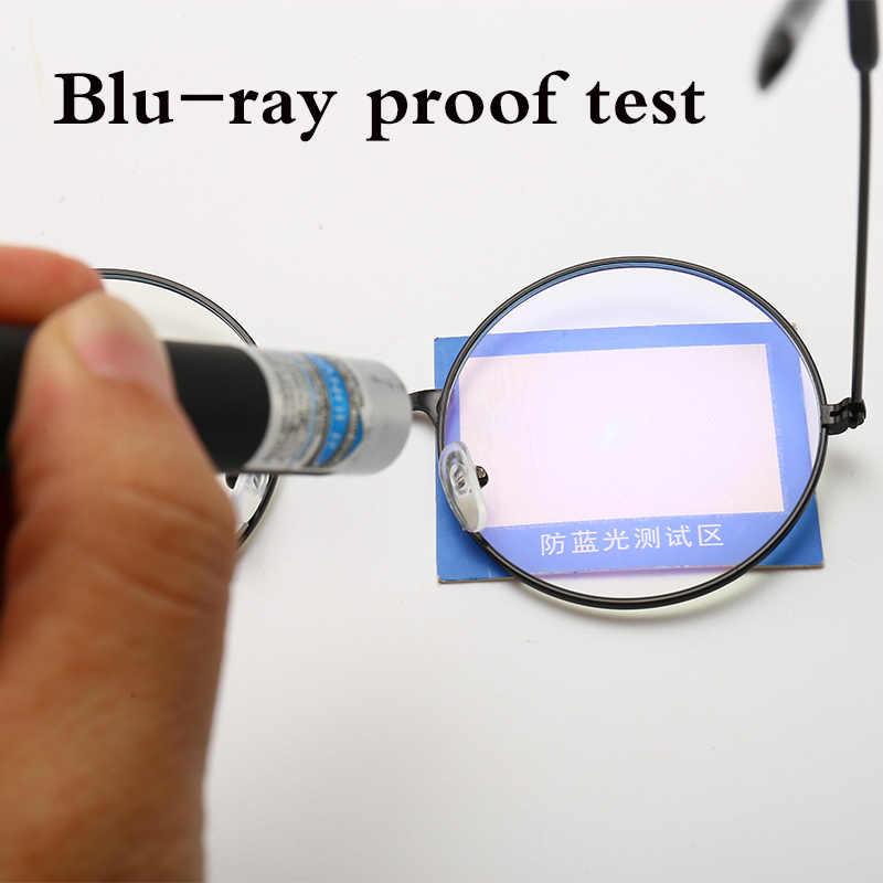 Vintage Rotondo Struttura In Metallo di Personalità Collegio Style Clear Lens Occhiali Da Vista Cornici blu-protezione degli occhi la luce del telefono mobile del gioco