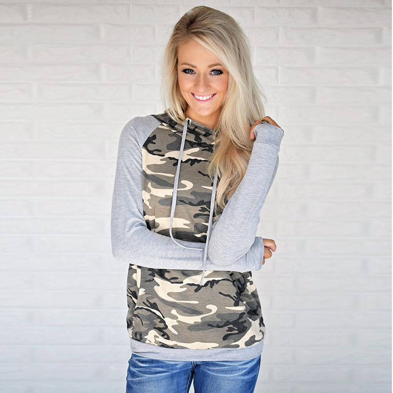 2019 women hoodies sweatshirts ladies autumn winter fall camouflage clothing sweat shirts