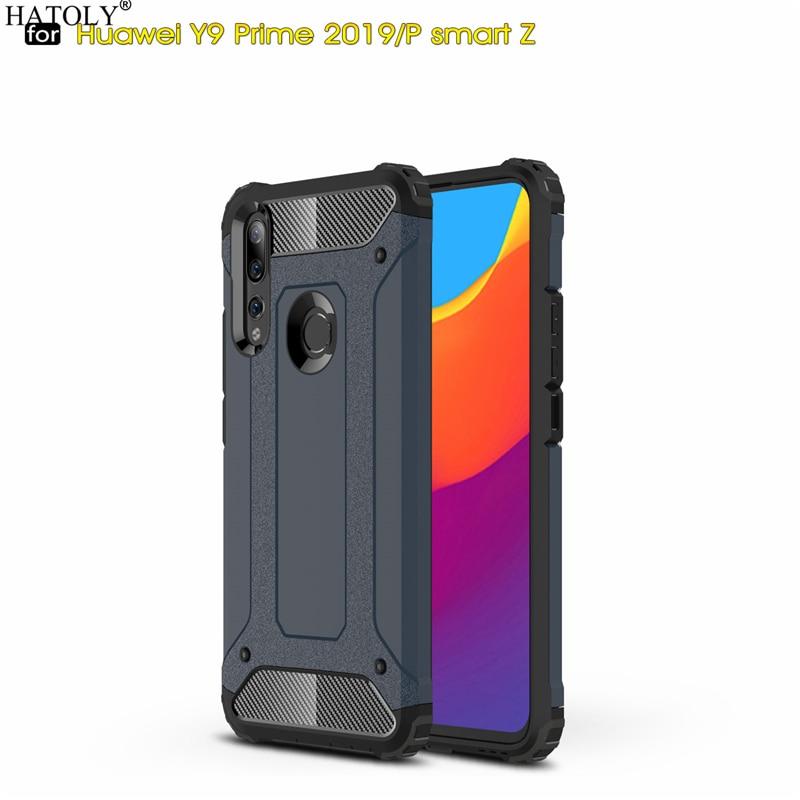 Para Coque Huawei P Smart Z Funda Y9 Prime 2019 Heavy Armor Hard Thin Hard goma silicona cubierta de la caja del teléfono para Huawei P Smart Z