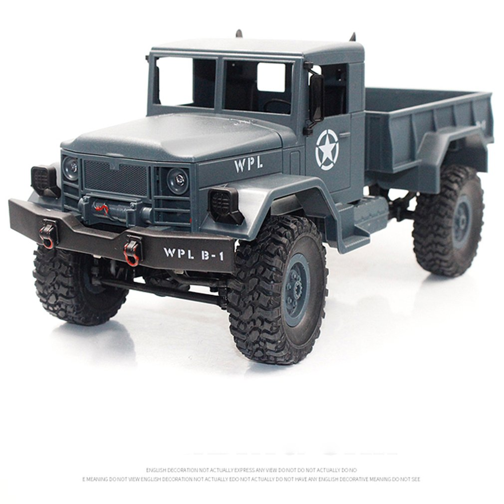 OCDAYB-14 1/16 2.4 GHz RC voiture de camion militaire tout-terrain avec phare RTR véhicule automatique jouets voiture pour garçon enfants cadeau