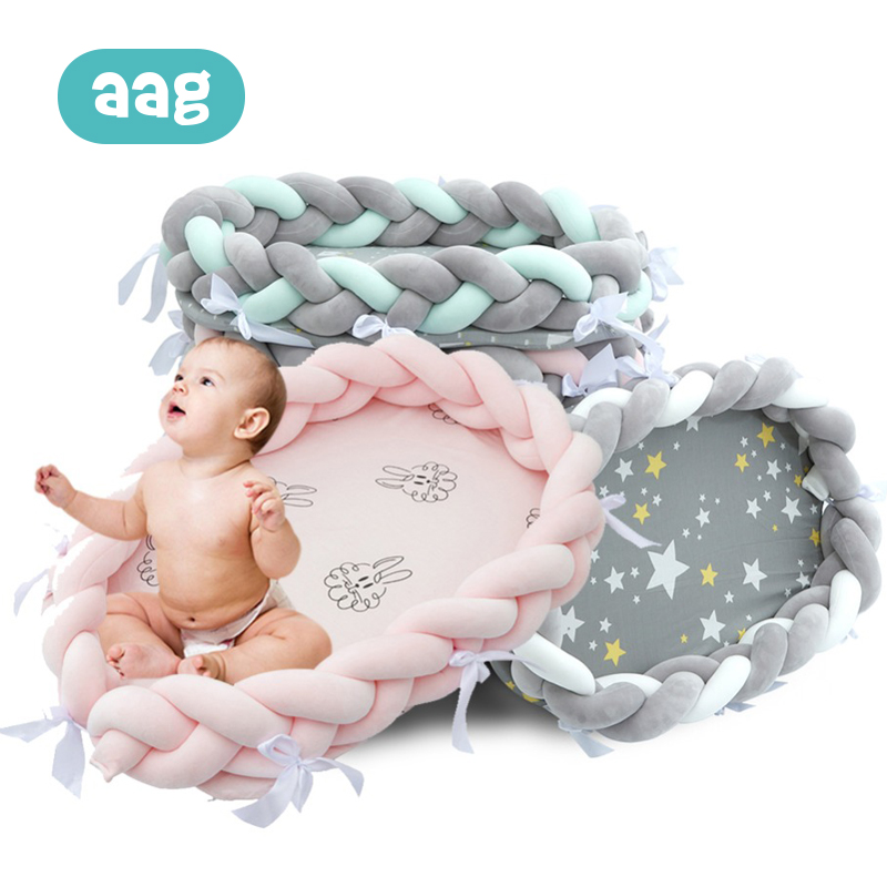 AAG Baby Bed Portable Crib Nest Cot Pipe Kids Cradle Childrens Bumper Sides in the Newborn Room Decor