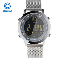 OGEDA EX18 Diving 50M Waterproof Smart Watch Pedometer Clock Fitness Bluetooth Phone Message Push Sports Healthy
