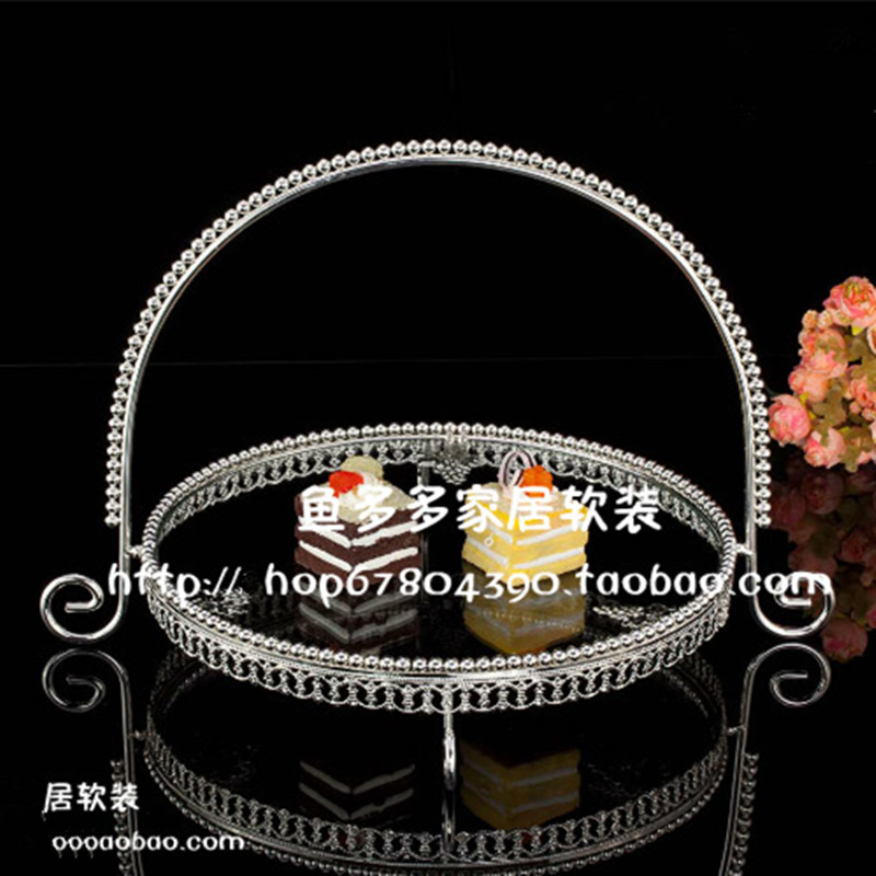 1PCS European fruit plate wedding cake plate English afternoon tea snack plate in Dishes Plates from Home Garden