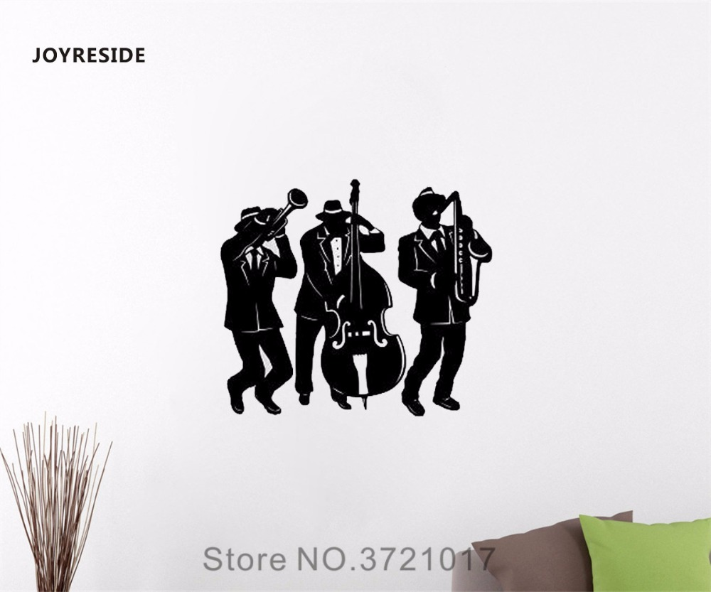 JOYRESIDE Jazz Musik Musikinstrumente Wand Aufkleber Vinyl Aufkleber ...