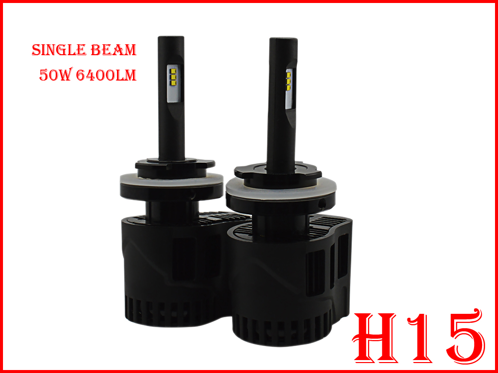 ФОТО 1 Set H15 50W 6400LM P6 Auto LED Headlight System Mini Size ALL IN ONE LUMILED LUXEON ZES 12/24V 3000K 4300K 5000K 6000K CANBUS