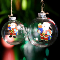Christmas Glass Ornament Decoration Ball Stanta Gift Xmas Tree Pendant Party Window Outdoor Decor Wedding Bauble