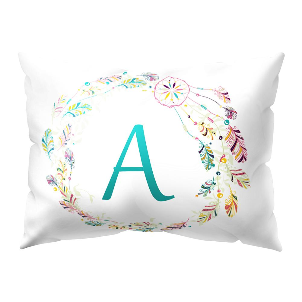 A-Z Letters Dream Catcher Throw Pillow Case Soft Bed Pillow Cover For Home Living Room