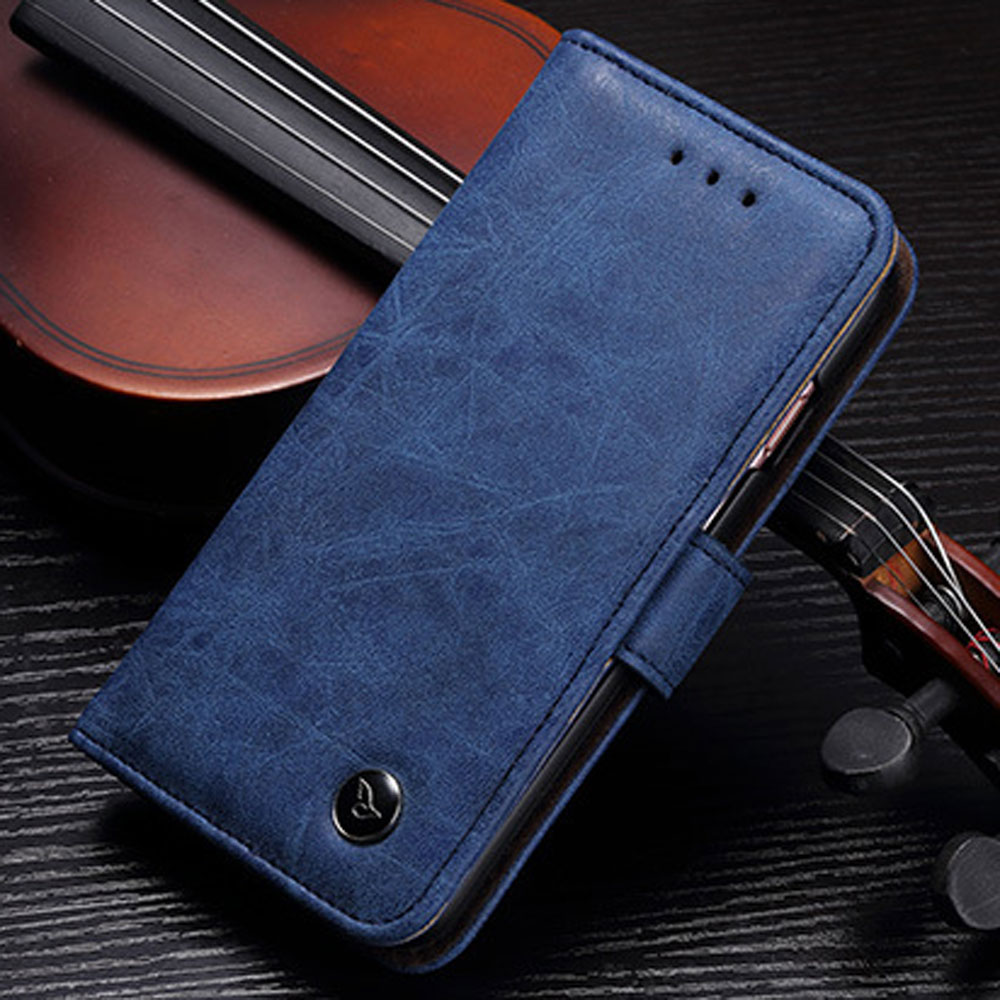 PU Flip Leather Wallet Case For iPhone 7 plus Bag Kickstand Credit Holder For iPhone 7 Plus Covers Business Retro StyleLuxury