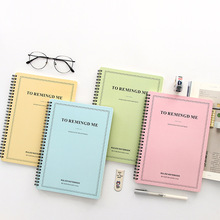 Candy Color 16K Cute Creative Letter Double coil Notebook Notepad School Notebook
