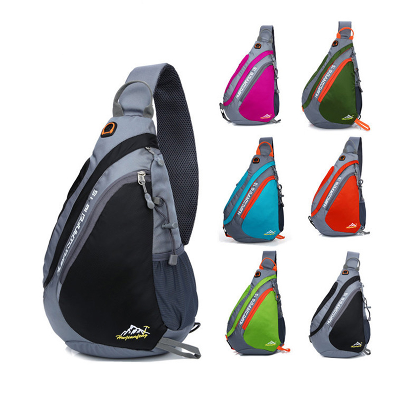 Sling Backpack, Chest Bag Water Resistant Nylon Shoulder Pack Small Lightweight Crossbody Daypack for Men&Women Polyester Backpa