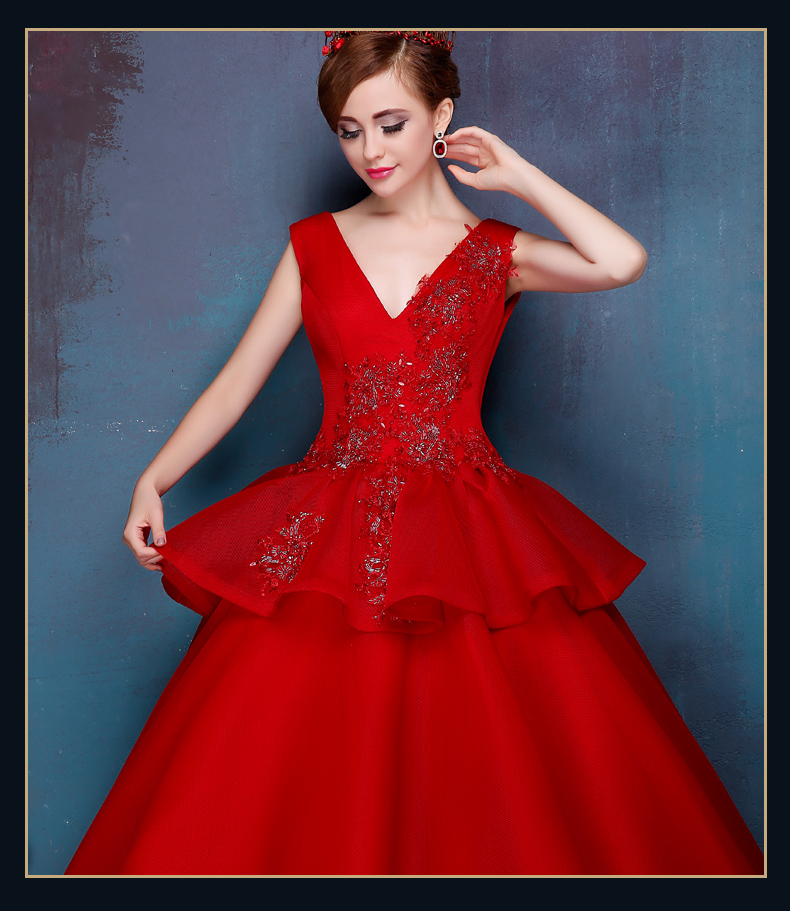 10401c0577 High Fashion Red Organza Cheap Quinceanera Dresses 2015 Sexy Deep V Neck  Appliques Masquerade Ball Gowns Tiered Organza ZBQ35-in Quinceanera Dresses  from ...