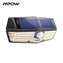 Mpow CD138 30 LED Garden Solar Lights Warm White IPX7 Waterproof Solar Lamp Wide Angle Sensor For Pathway Garage/Swimming Pool(China)