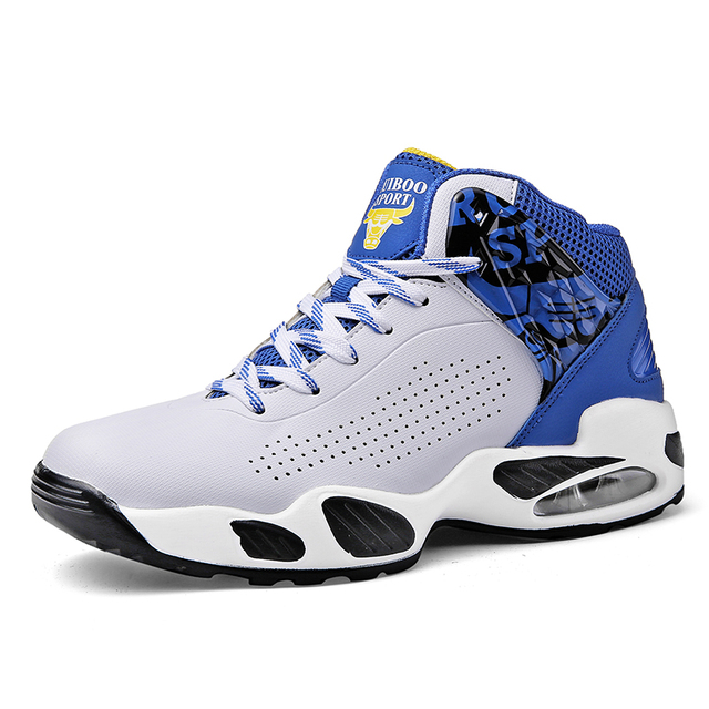 Original Professional Men Basketball Shoes Air Cushion Zoom High Ankle Top Sneakers  Footwear Sport LBJ 13 94245eb16870