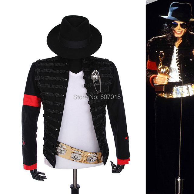 fee3438137d Rare PUNK Formal dress Classic England Style MJ MICHAEL JACKSON Costume  Military Jacket Belt Hat For Fans Imitator Best Gift