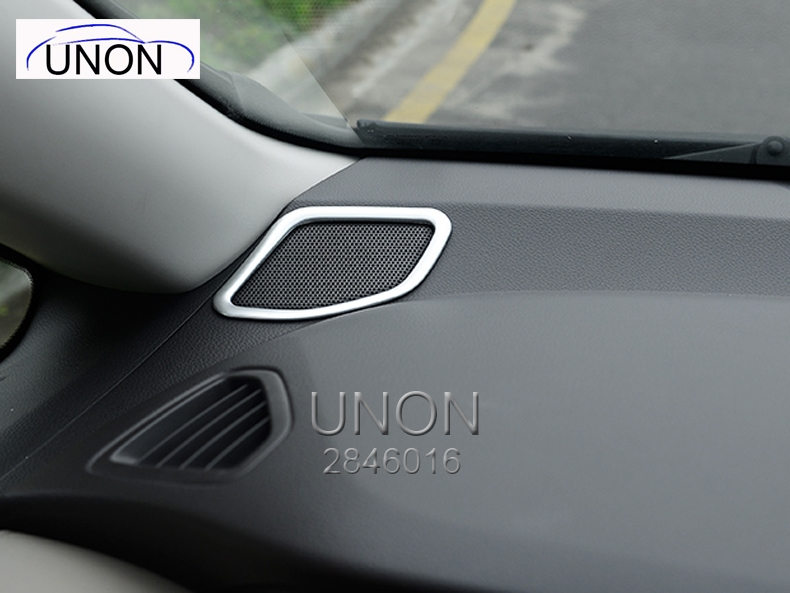 NEW Arrival!! For Honda Odyssey 2015 -2016 ABS Chrome Inner Dashboard Middle Console Speaker Lid Trim