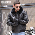 FREE SHIPPING 2017 New Men A2 Air Force Pilot Leather Jacket Real Cowhide Wool Collar Plus Size XXL Russian Winter Leather Coats