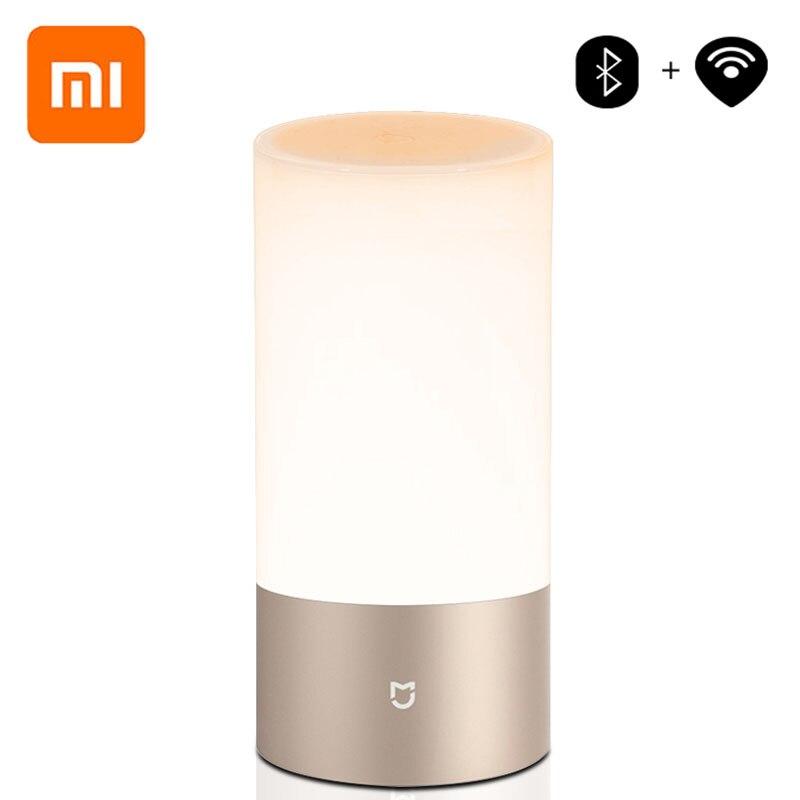 Xiaomi Mijia Yeelight lampe de chevet Table bureau lumière d'intérieur intelligente 16 llion RGB contrôle tactile Bluetooth Wifi pour la maison APP