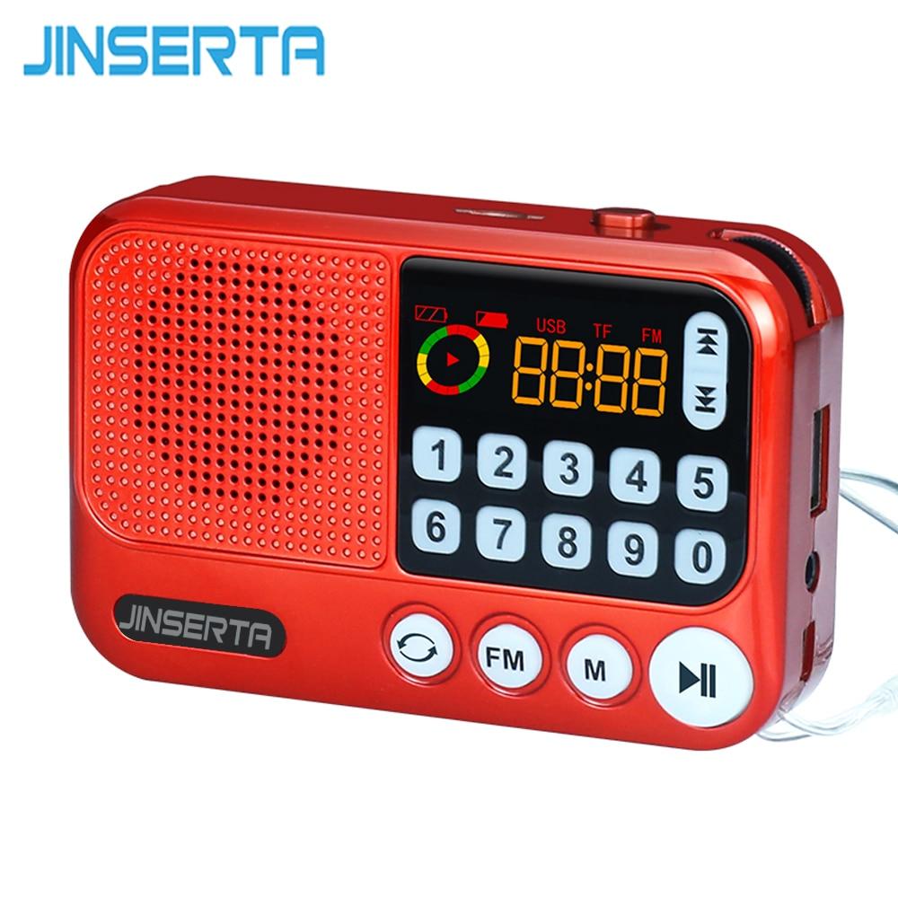 Jinserta Digital Radio Mini Lautsprecher Tragbare Radio Fm Empfänger Akku Unterstützung U Festplatte/tf Karte Musik Spielen äSthetisches Aussehen Radio Unterhaltungselektronik