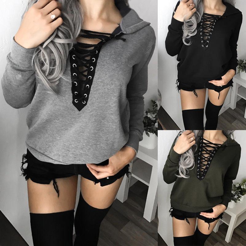 Fashion Women Casual Long Sleeve Hoodies Sweatshirt