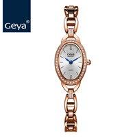 ГЕЯ Японский Miyota 5Y20 Для женщин браслет золотой Нержавеющаясталь женская одежда наручные Водонепроницаемый Мода кварцевые женские часы