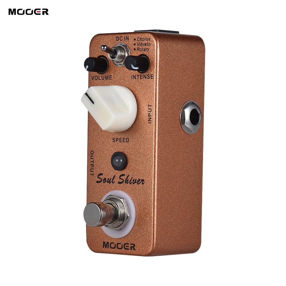 MOOER Soul Shiver Guitar Pedal 3 Modes Chorus Vibrato Rotary Multi Modulation Guitar Effect Pedal True
