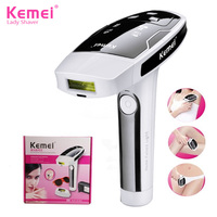 Kemei KM 6812 Permanent IPL Laser Epilator Painless Hair Removal Device Photon Pulsed For Whole Body