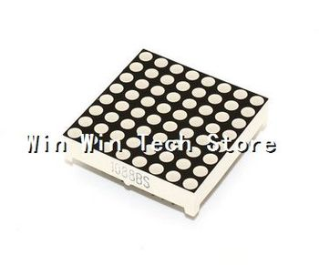 100PCS 8*8 LED dot matrix 3mm 1088BS  HSN-1088UR 32*32mm bright red Yang  1088BS 1088AS