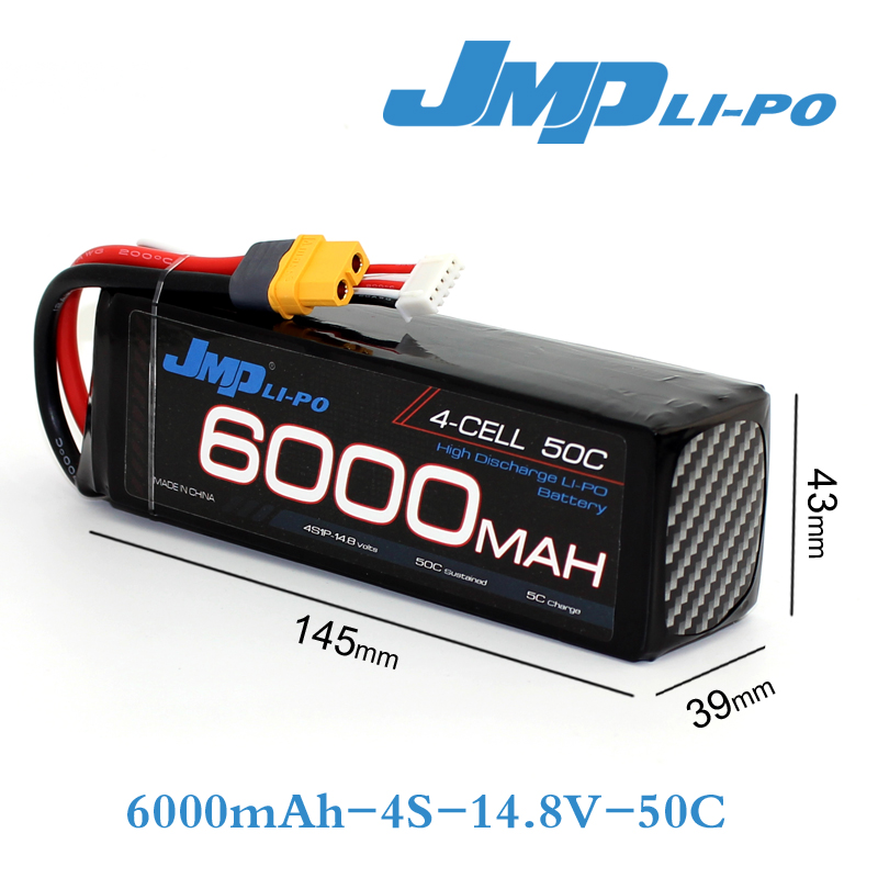 JMP Lipo Battery 4S 6000mAh 14.8V Battery Pack 50C Battery for TRAXXAS X-MAXX 1/7 UNLIMITED 7 4v 500mah 50c lipo battery