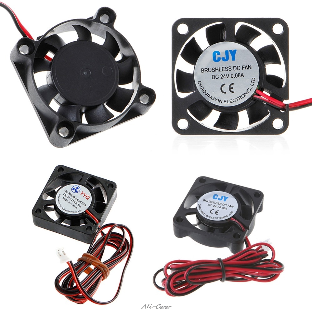 1 Pc New <font><b>24V</b></font> 2-Pin DC <font><b>Cooling</b></font> <font><b>Fan</b></font> 40mm <font><b>40x40x10mm</b></font> 4cm 4010s 9Blade For 3D Printer Printing CPU Cooler <font><b>Fan</b></font> High Quality image