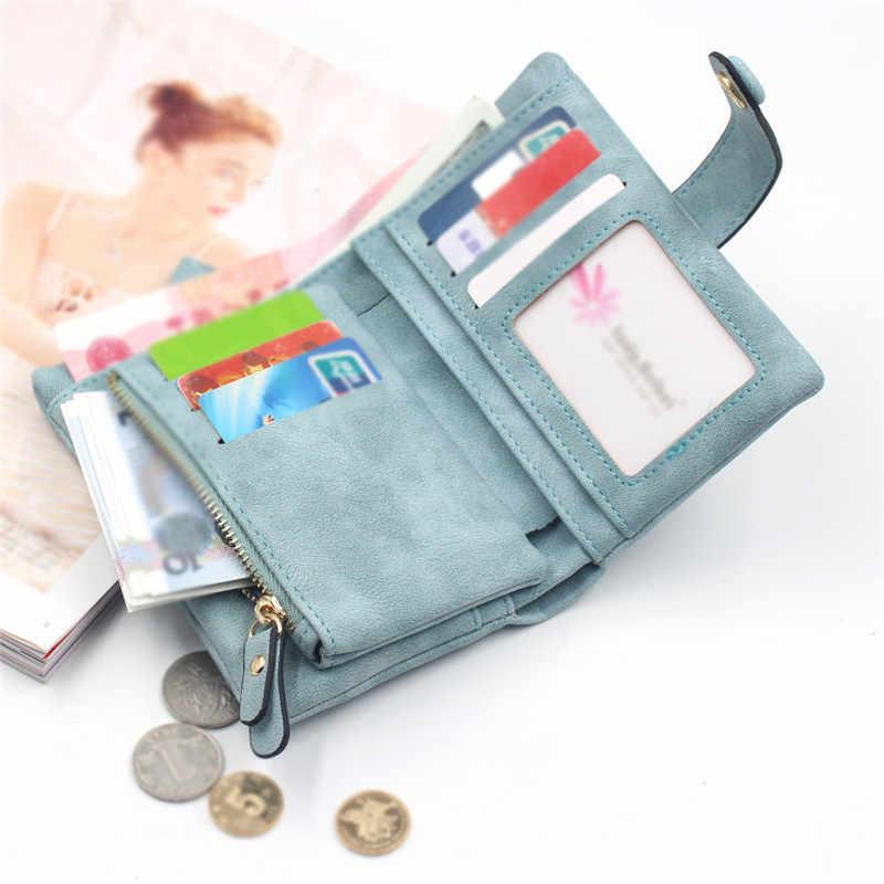Женский матовый короткий кошелек Walles, маленький свежий студенческий кошелек Doka, 2020, portafoglio donna monederos para mujer