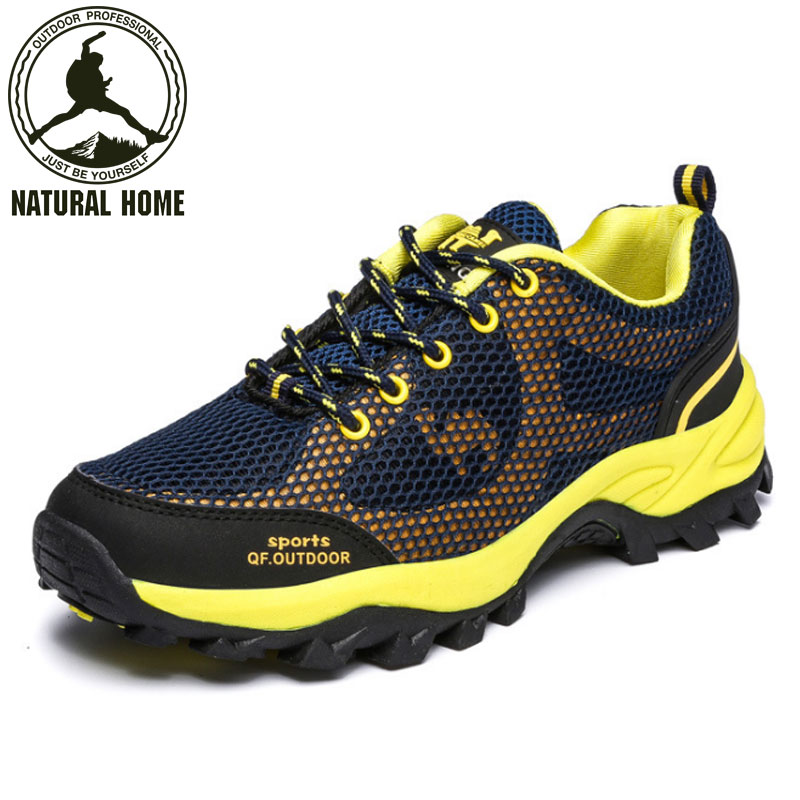 ФОТО NaturalHome New Outdoor Hiking Shoes Men Breathable Waterproof Walking Trekking Shoe Women Boots  Shoes Botas Trekking
