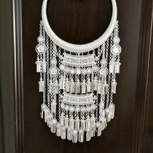28 дизайнов, новинка, великолепное серебряное ожерелье Miao, аксессуары для миноритарных групп, сценический аксессуар в этническом стиле