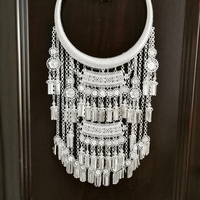 28 Designs New Gorgeous Miao Silver Necklace Minority Group Tong Accessory Stage Performance Exaggerated Ethnic Accessory