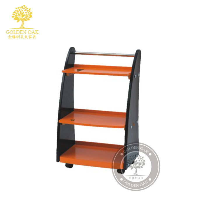 Three Layers Of Beauty Salon Manicure Trolley. Barber Parlor Equipment Factory