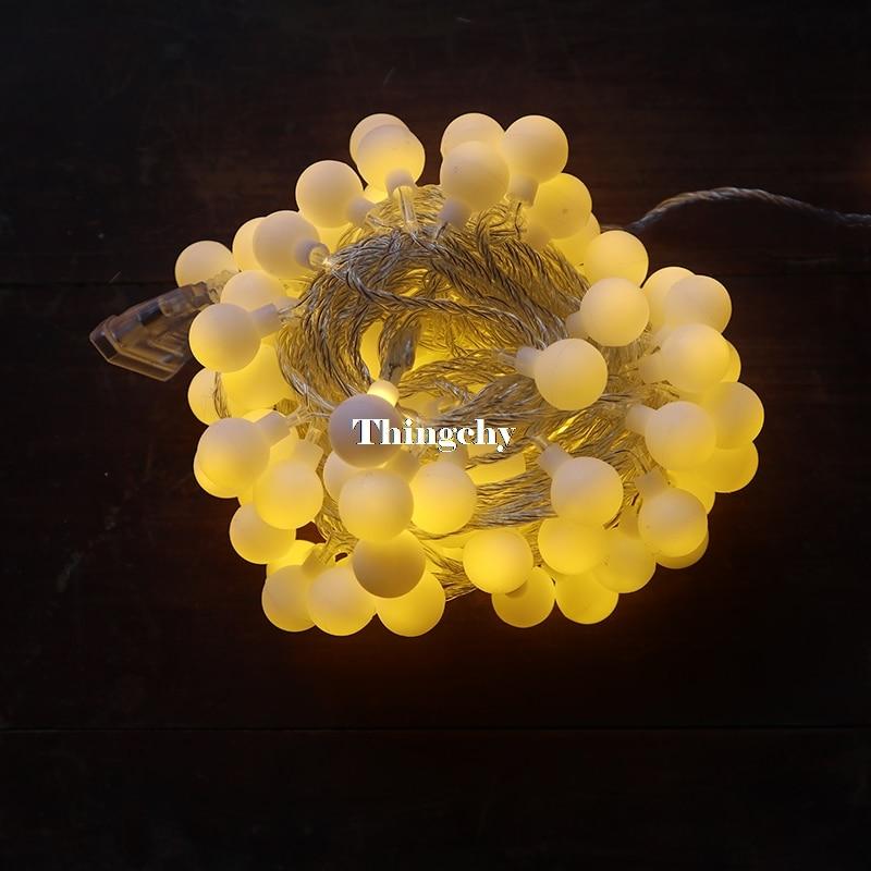 220 / 110V 10M 100 LED шие баллы Сызғыш - Мерекелік жарықтандыру - фото 2
