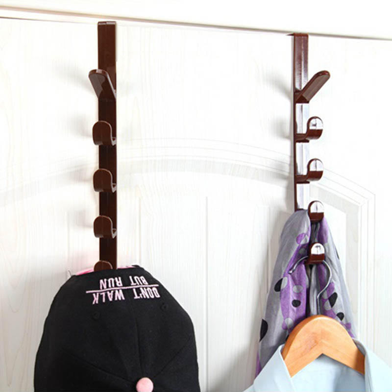 Hanging Racks Door Hanger Hook Cupboard Cabinet Rack Plastic Hat Clothes Bag Hanger Home Organizer 1 PC
