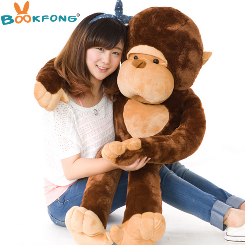 BOOKFONG 80Cm Giant Plush Toy Gorilla Adorable Ape Doll Cute Animal Doll High Quality Children's Gift Birthday Gift stuffed animal 44 cm plush standing cow toy simulation dairy cattle doll great gift w501