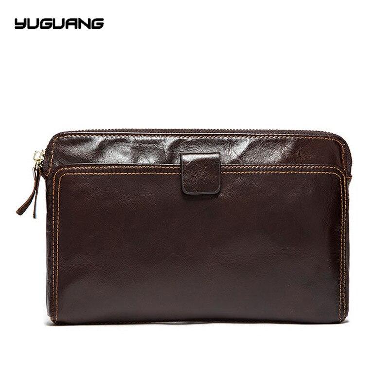 Кожа Для мужчин бумажник, деньги Chuck слой, теплые деловой человек, мешок руки, мешок мобильного телефона, нулевой кошелек прилив