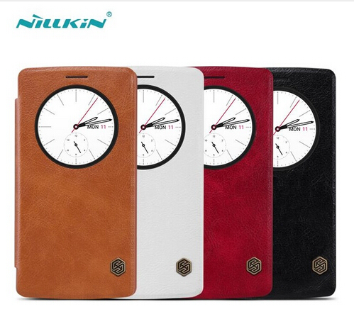 For LG G4 NILLKIN Qin Series Leather Case For LG G4 / H810 / F500 Flip Cover Case For LG g4 Mobile phone bags Free Shipping