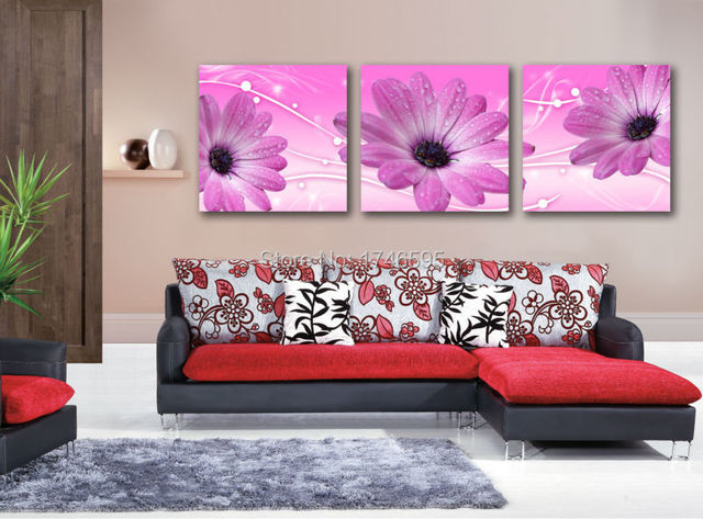 Big 3pcs modern home wall art for living room bedroom decor canvas ...