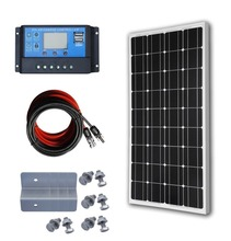DC-HOUSE 12 Volts 100 Watts Monocristallin Panneau Solaire Kit pour 12 V Hors Réseau Batterie De Charge