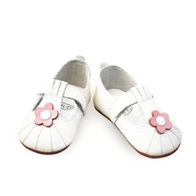 Angelatracy New Genuine Leather Baby Pink Flower TPR Soft imitation ox-tendon Sole Cow Muscle Prewalker Toddlers Sandals Shoes