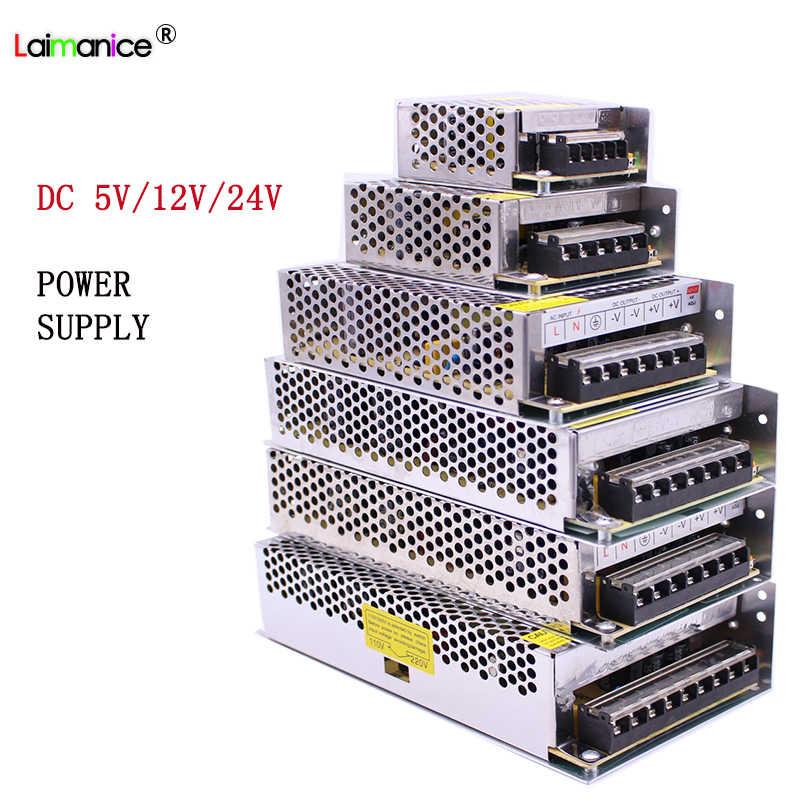 Светодиодный Питание AC 110 V-220 V DC/DC 5 V 12 V 24 V 1A 2A 3A 5A 10A 15A 20A 30A 50A Универсальный светодиодный драйвер адаптера для светодиодный светодиодные полосы света