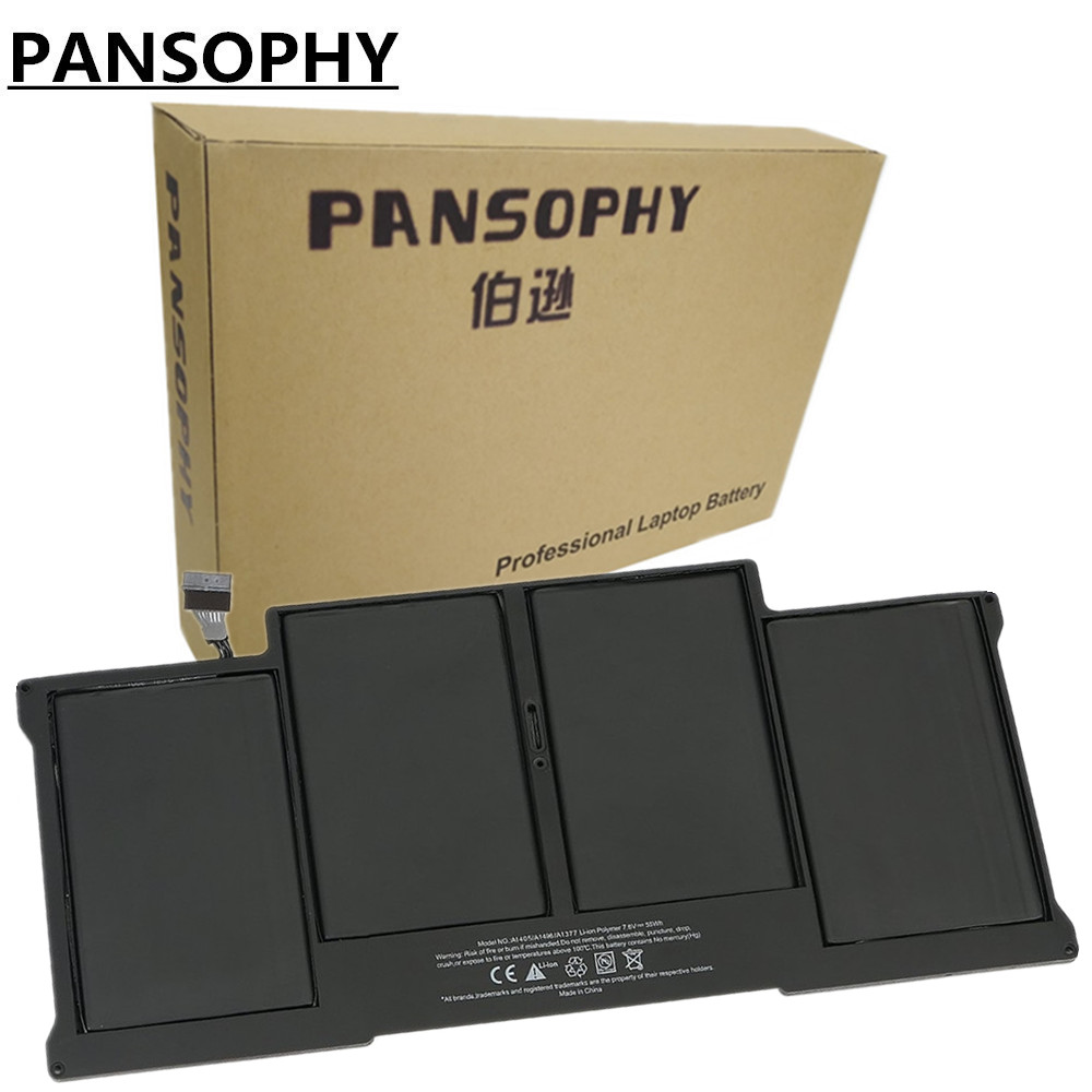 PANSOPHY 6700mAh Laptop Battery For Macbook A1466 For Apple A1405 A1369 A1466 For Macbook Air 13.3 A1369 2011 2012 rechargeable battery for apple for macbook air core i5 1 6 13 a1369 mid 2011 a1405 a1466 2012