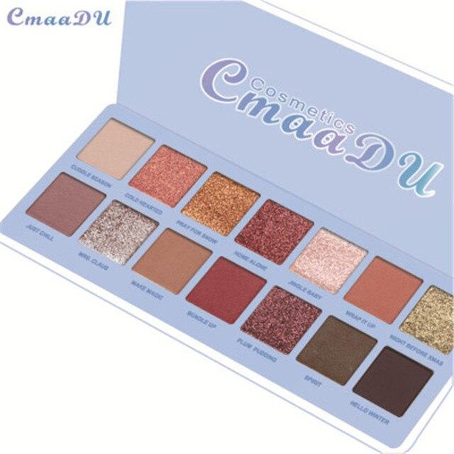 14 Colors Matte Eye Shadow Makeup Soft Glitter Shimmering Colors Metallic Eyeshadow Palette Naked Glitter Nude Make Up 2