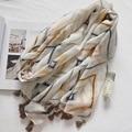 High quality 2017 Spring New Design elegant kaleidoscope wild Cotton Beach Scarf Women Slim Large Thin Shawls Gifts essential