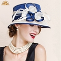 Женская винтаж Лето бантом венчания партии hat fascinators Боулер/cloche Шляпы для women1007
