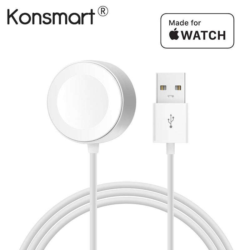 Konsmart Original 1 M inalámbrico rápido Cable de carga magnético para Apple Watch cargador adaptador para serie 1 2 3 4 38/42mm